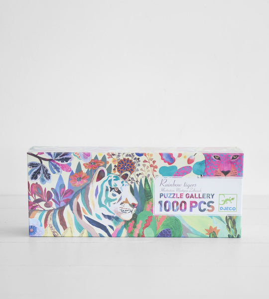 Djeco | Rainbow Tigers | 1000 Piece Puzzle