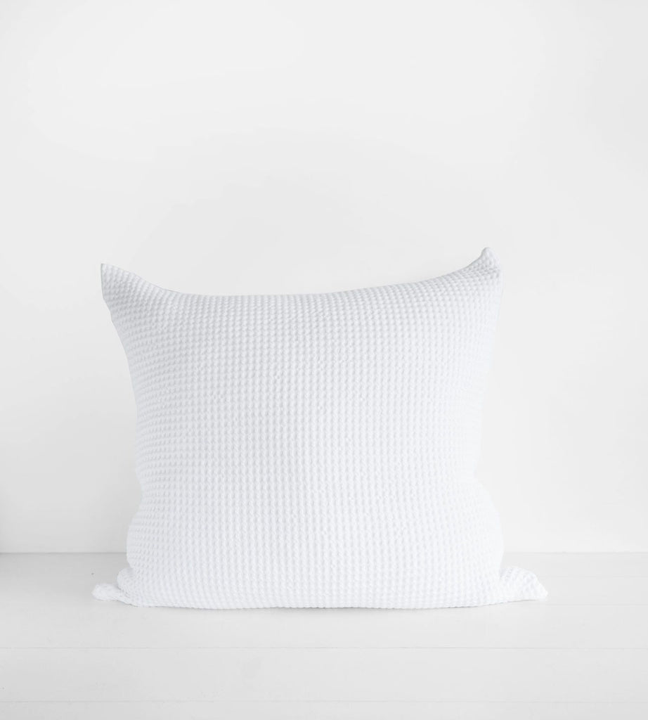 Stonewash Cotton Cable Waffle | Single European Pillowcase