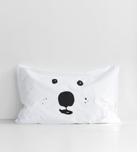 Father Rabbit | Cotton Bear Pillowcase | Single