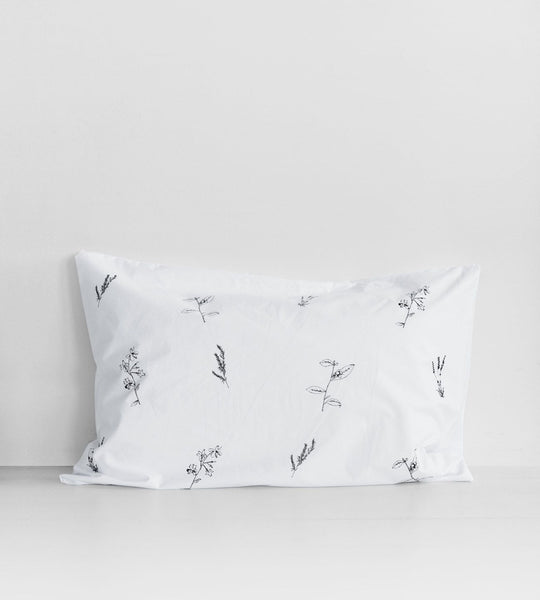 Father Rabbit | Cotton Botanical Pillowcase | Single