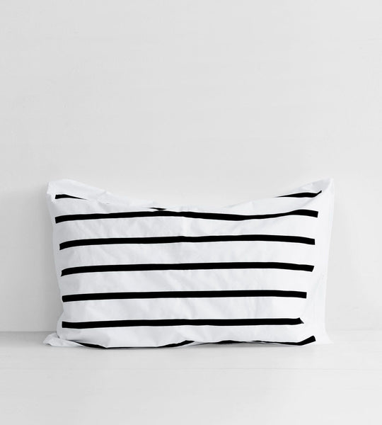 Father Rabbit | Cotton Nautical Stripe Pillowcase | Single