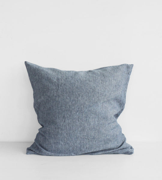 Father Rabbit | Linen European Pillowcase Pair | Denim