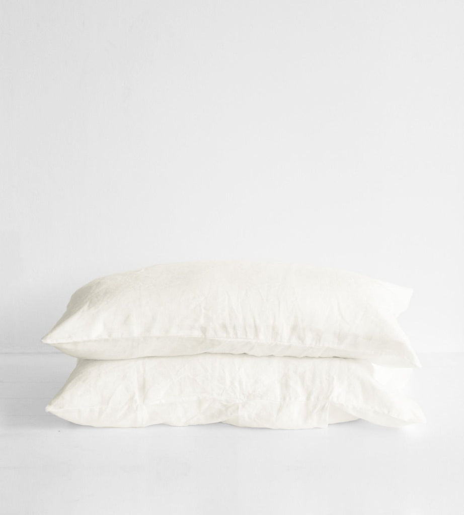 Father Rabbit | Linen Standard Pillowcase Pair | Cream