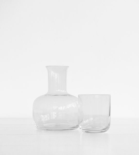 Mason Glass Night Set | Clear Carafe & Glass