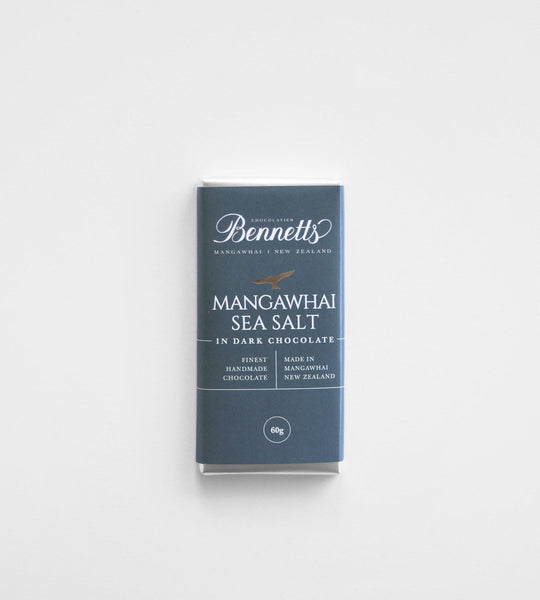 Bennetts of Mangawhai | Sea Salt Dark Chocolate Bar