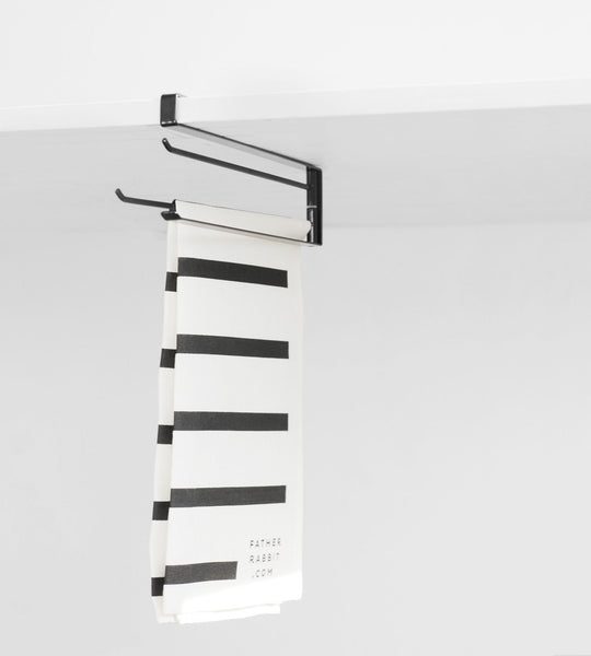 Yamazaki | Tower Under Shelf Dish Cloth Hanger | Black