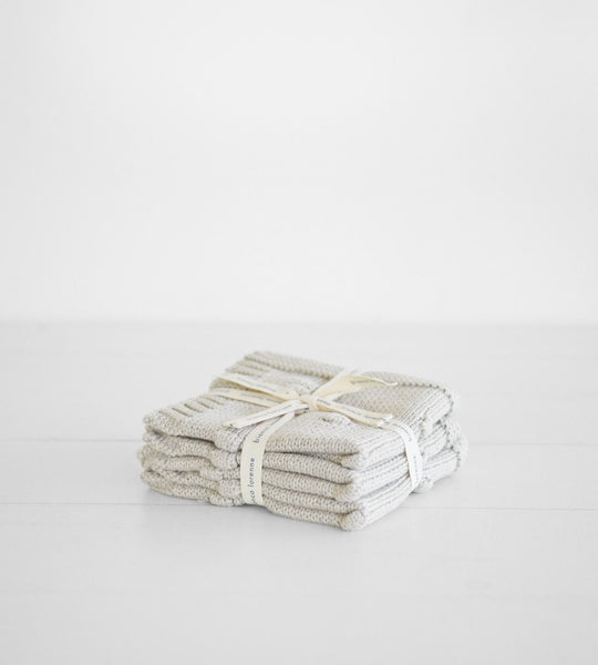 Knitted Cloths | Fronzolo Oatmeal | Set of 3