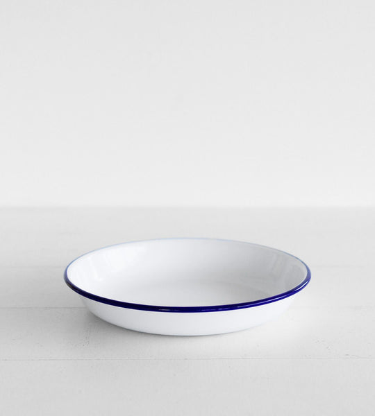 Traditional Enamel Pasta Plate | 24cm
