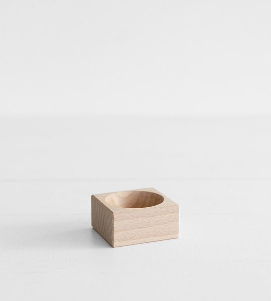 Wooden Square Salt Bowl