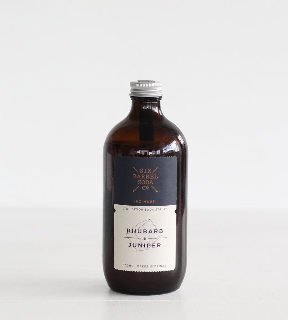 Six Barrel Soda Co. | Soda Syrup | Rhubarb & Juniper