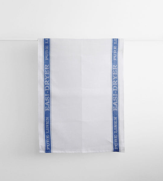 Pure Linen Easi-Dryer Tea Towel | Blue