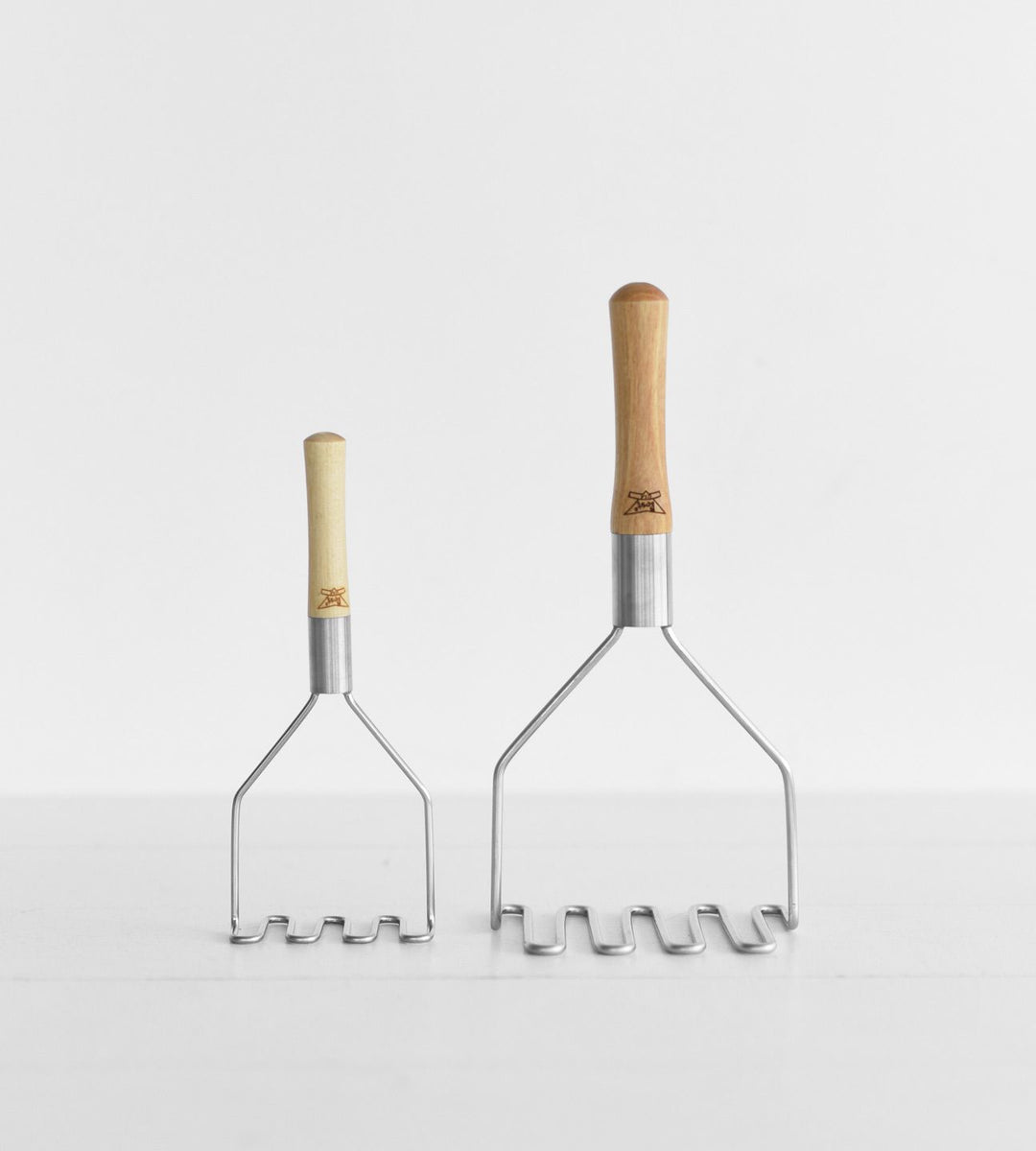Stainless Steel Masher with Wood Handle