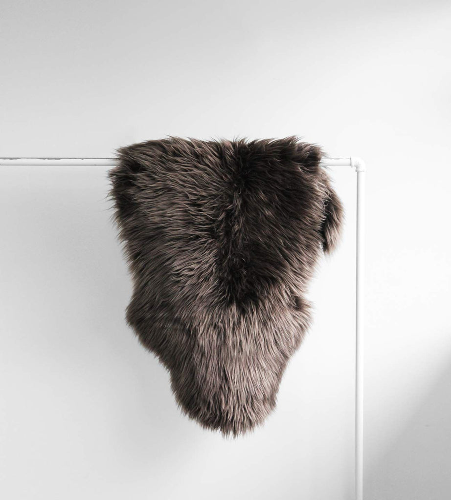 Long Wool Sheepskin | Walnut