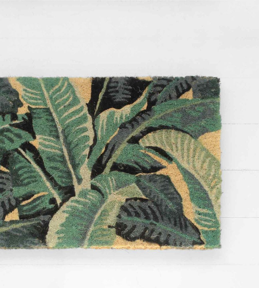 FRWEB_LIV_DOORMAT-tropical-leaves-doormat