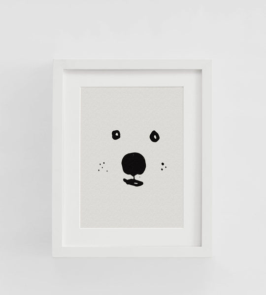 Father Rabbit | Framed Print | Bear