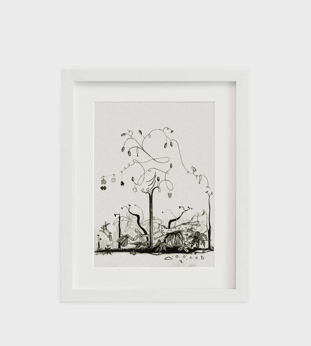Father Rabbit | Framed Print | Jungle
