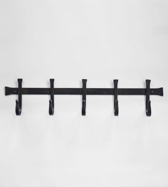 Chunky Iron Hook Bar | 5 Hooks