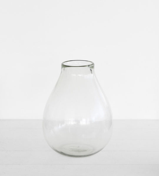 Large Rounded Hand Blown Vase