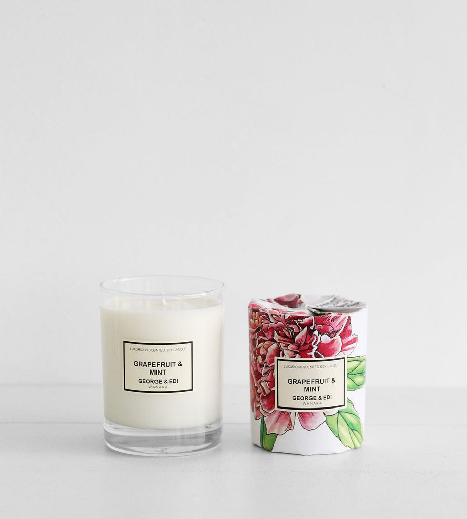 George & Edi | Soy Candle | Grapefruit & Mint