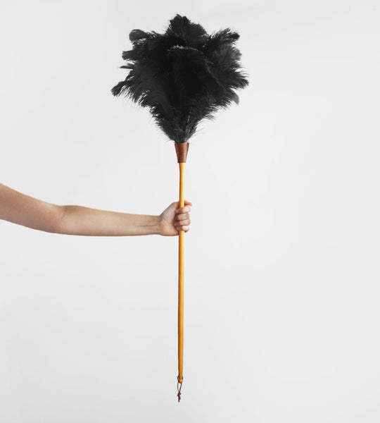 Ostrich Feather Duster | Black | Large