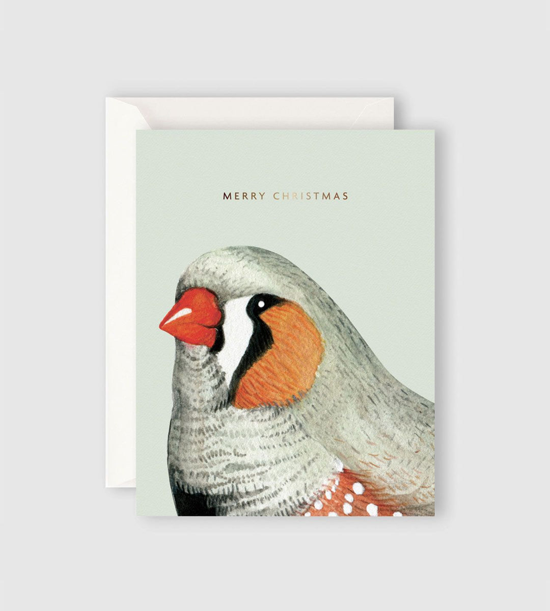 Father Rabbit Stationery | Merry Christmas Bird Card