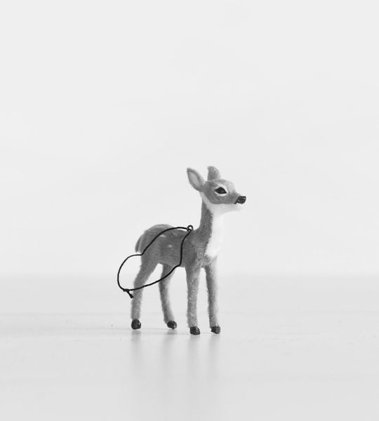 Christmas Decoration | Hanging Doe | Grey