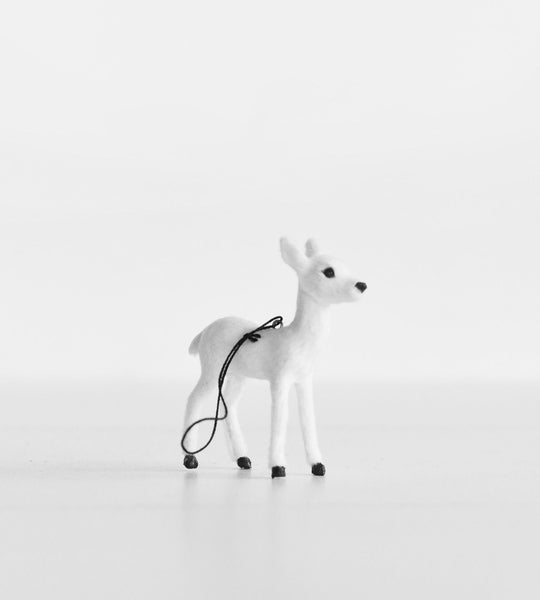 Christmas Decoration | Hanging Doe | White