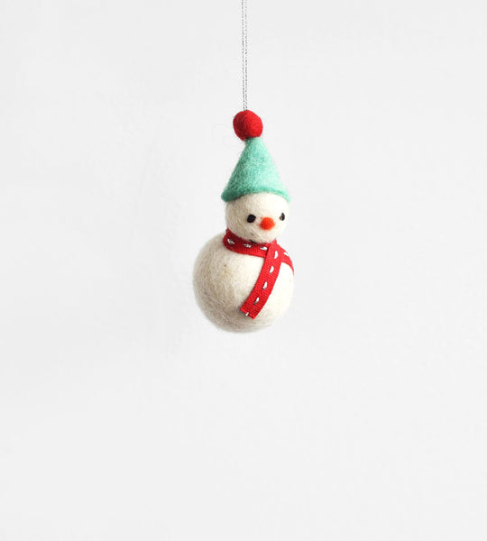 Christmas Decoration | Hanging Felt Snowman