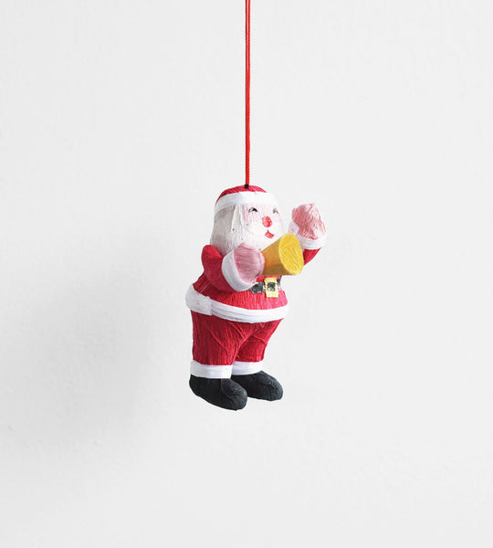 Christmas Decoration | Hanging Paper Decoration | Trumpeting Santa
