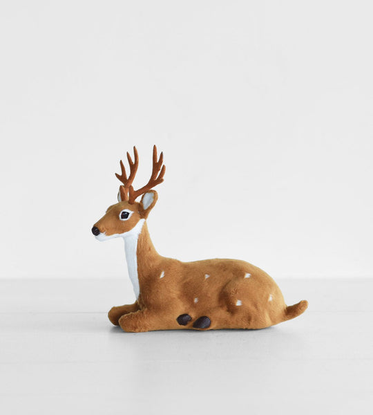 Christmas Decoration | Sitting Reindeer | Natural