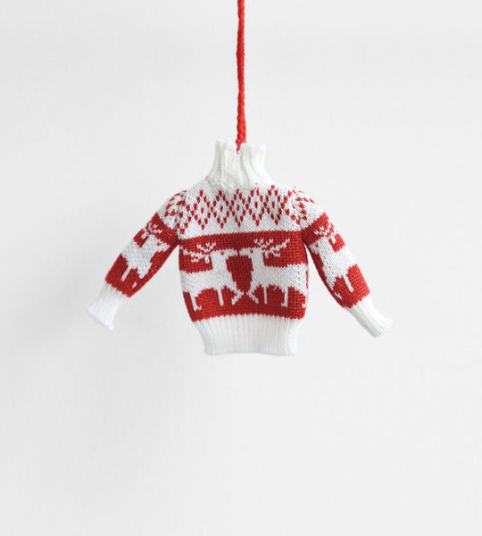 Christmas Decoration | Hanging Ugly Sweater | Reindeer