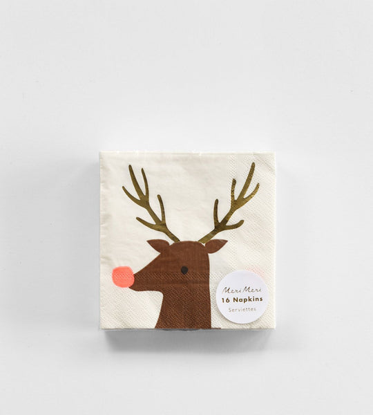 Paper Napkins Reindeer Small