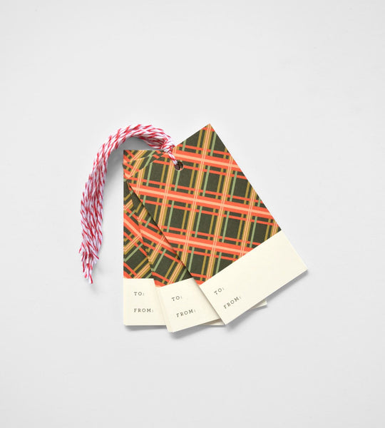 Rifle Paper Co. | Gift Tag | Holiday Plaid | Set of 10