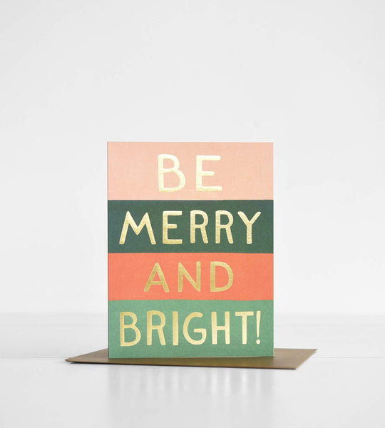 Rifle Paper Co. | Be Merry and Bright Colour Block Card