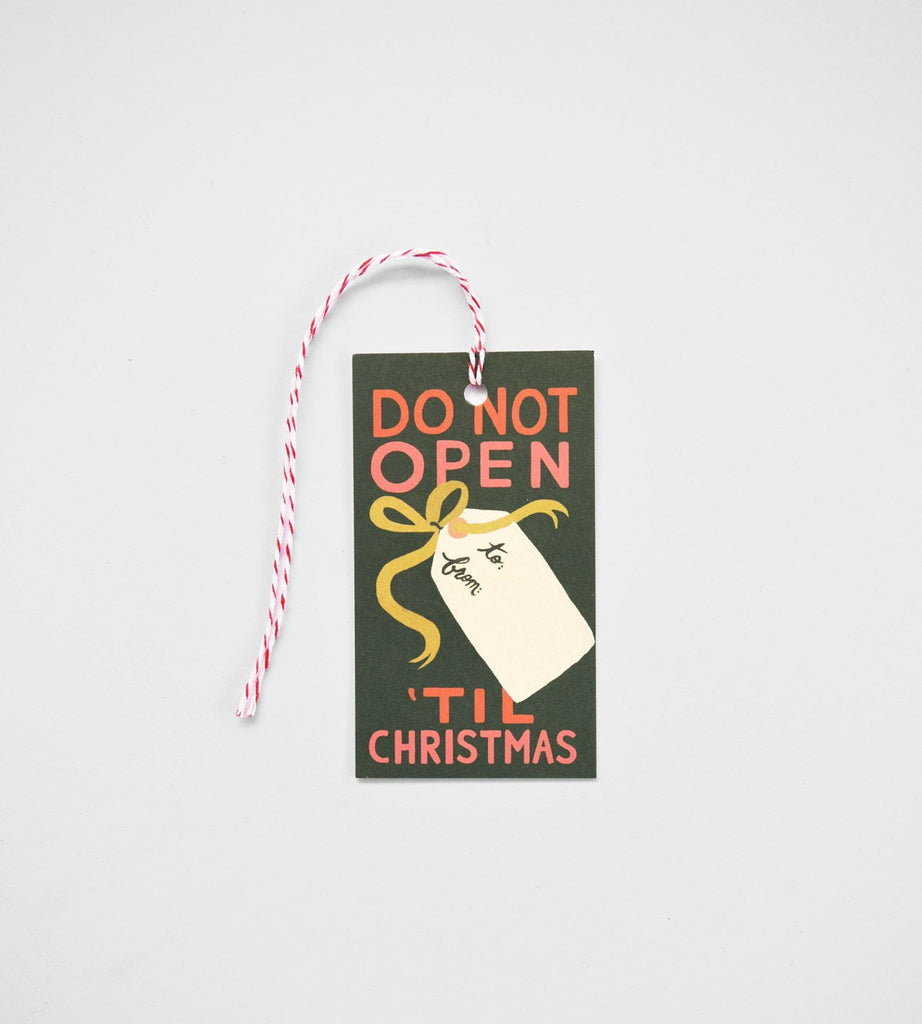 Rifle Paper Co. | Gift Tag | Do Not Open 'Til Christmas