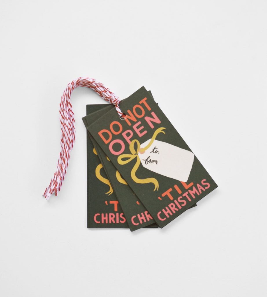 Rifle Paper Co. | Gift Tag | Do Not Open 'Til Christmas | Set of 10