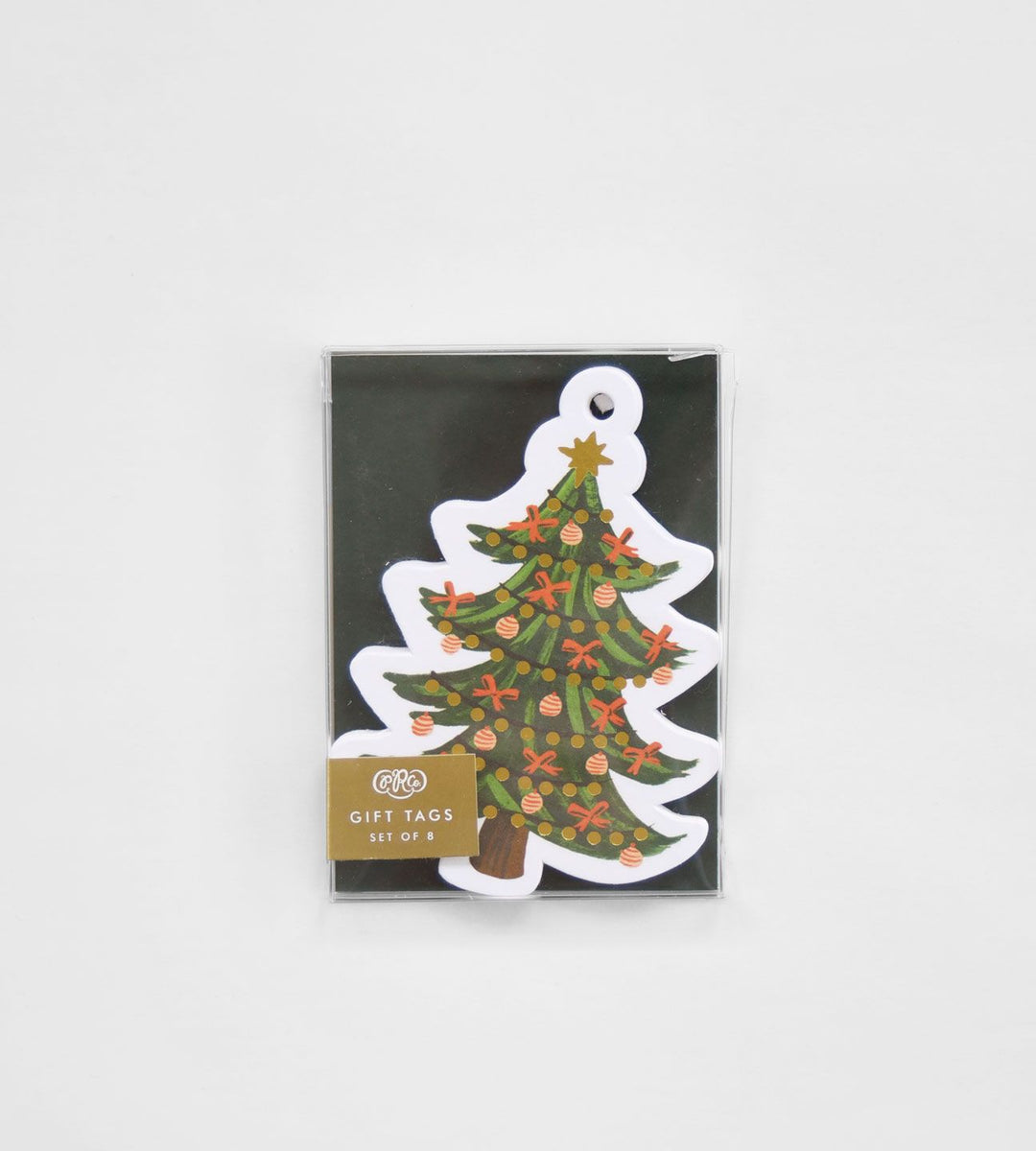 Rifle Paper Co. | Gift Tag | Die Cut Christmas Tree | Pack of 8