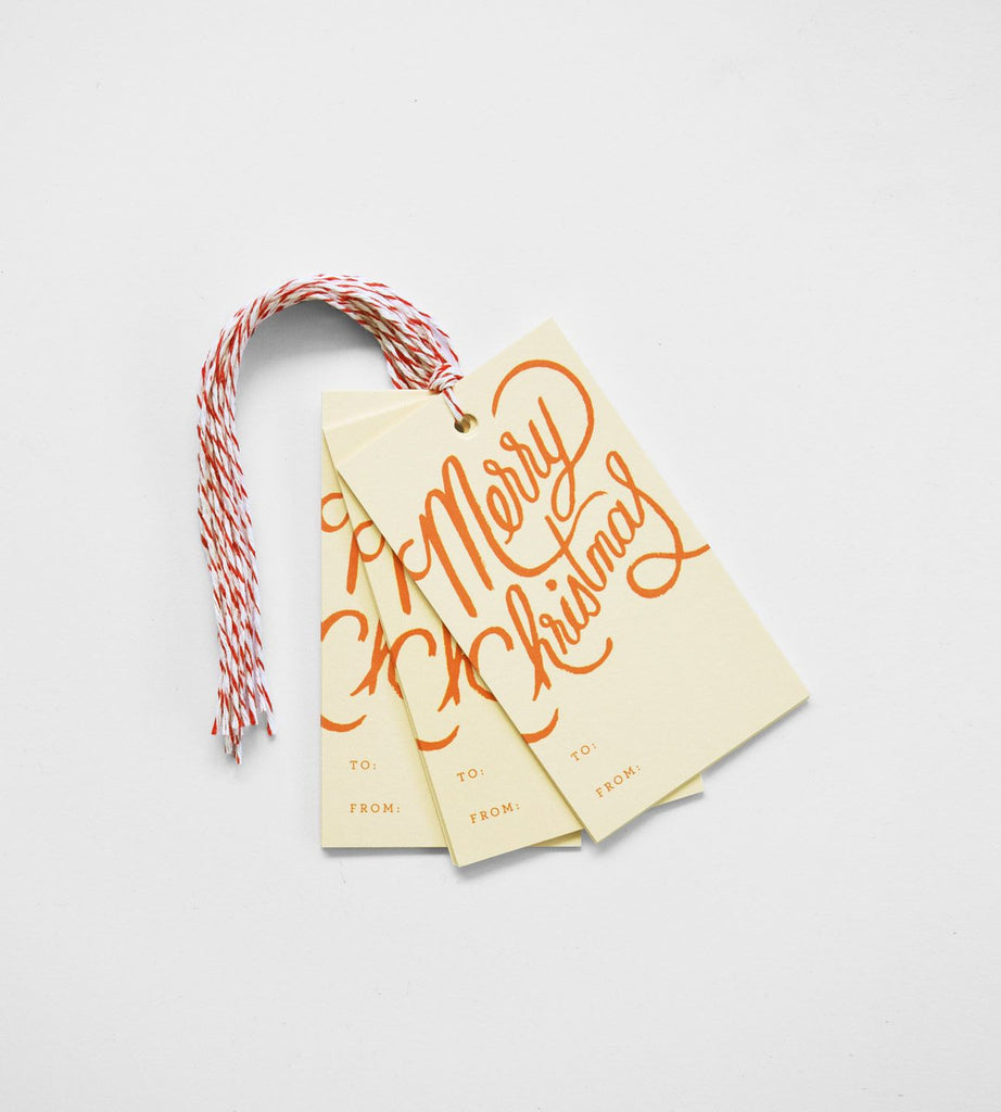 Rifle Paper Co. | Gift Tag | Merry Christmas | Set of 10