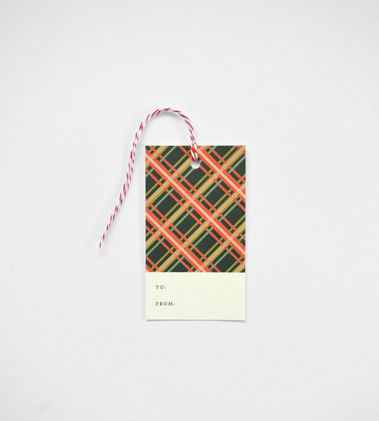 Rifle Paper Co. | Gift Tag | Holiday Plaid