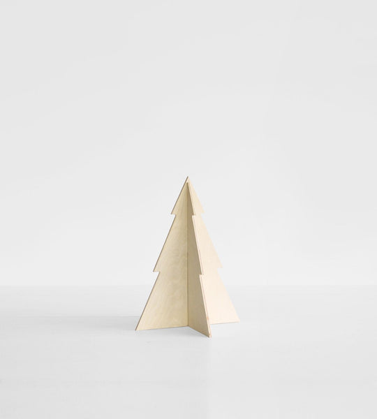Father Rabbit | Birch Wood Ply Christmas Tree | Mini