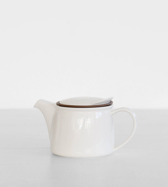 Kinto Brim Teapot 450ml White