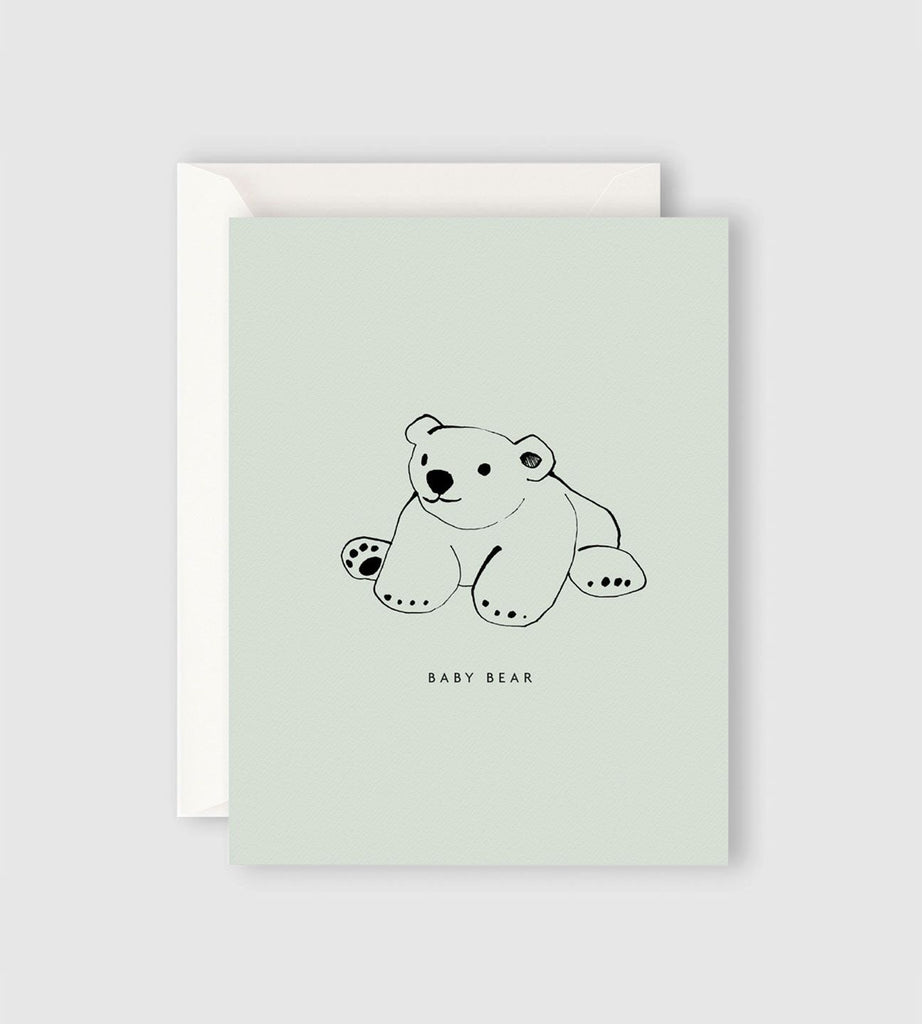 Father Rabbit Stationery | Baby Bear Card
