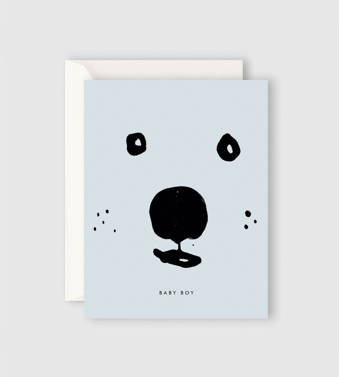 Father Rabbit Stationery | Baby Boy Bear Card