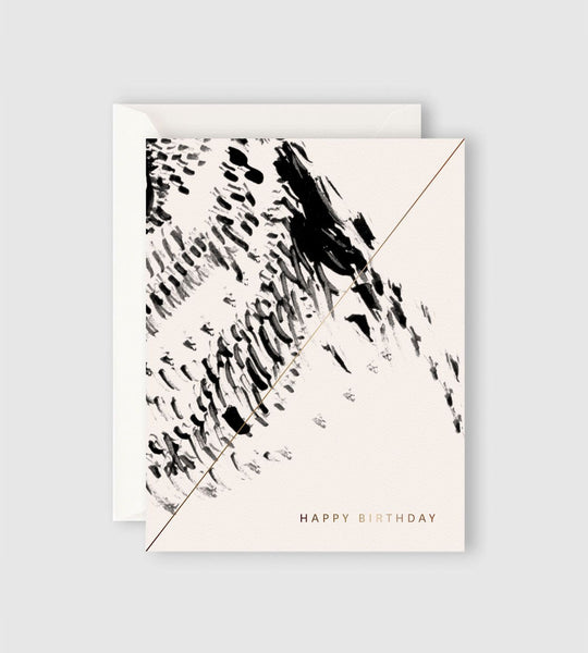 Father Rabbit Stationery | Bird Pattern Happy Birthday Card