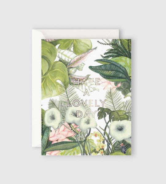 Father Rabbit Stationery | Botanical Have a Lovely Day Card