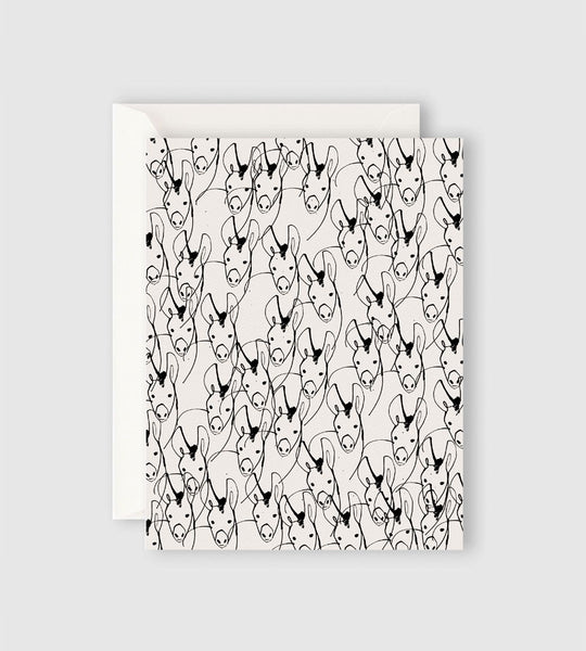 Father Rabbit Stationery | Donkeys Card