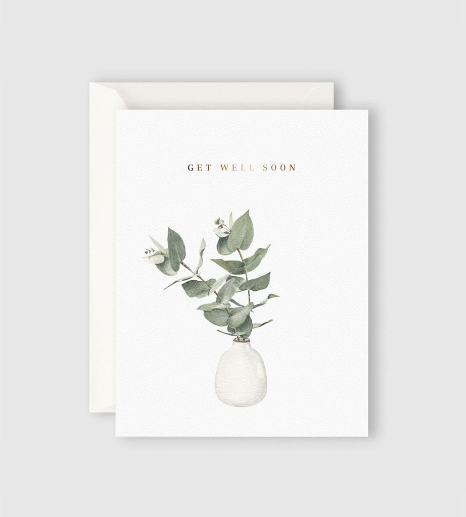Father Rabbit Stationery Eucalyptus Get Well Soon Card