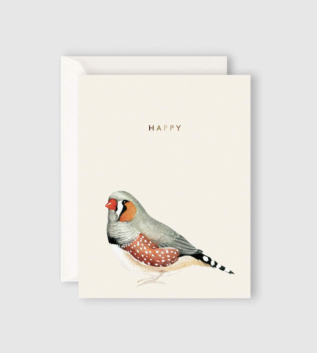 Father Rabbit Stationery | Happy Bird Card