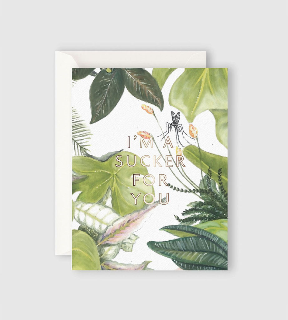 Father Rabbit Stationery | Botanical I'm a Sucker for You Card
