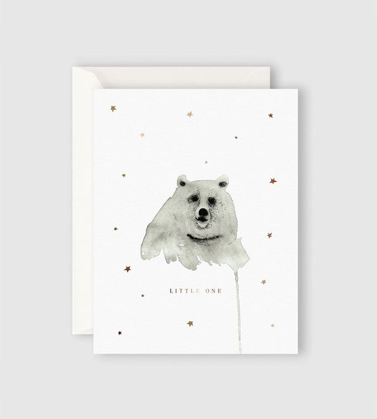 Father Rabbit Stationery | Starry Bear Card